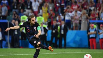 En fotos: El regular partido de Luka Modric en los cuartos de final contra Rusia