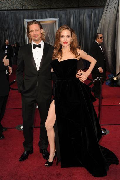Donde claro, la pierna de Angelina robó toda la atención.
