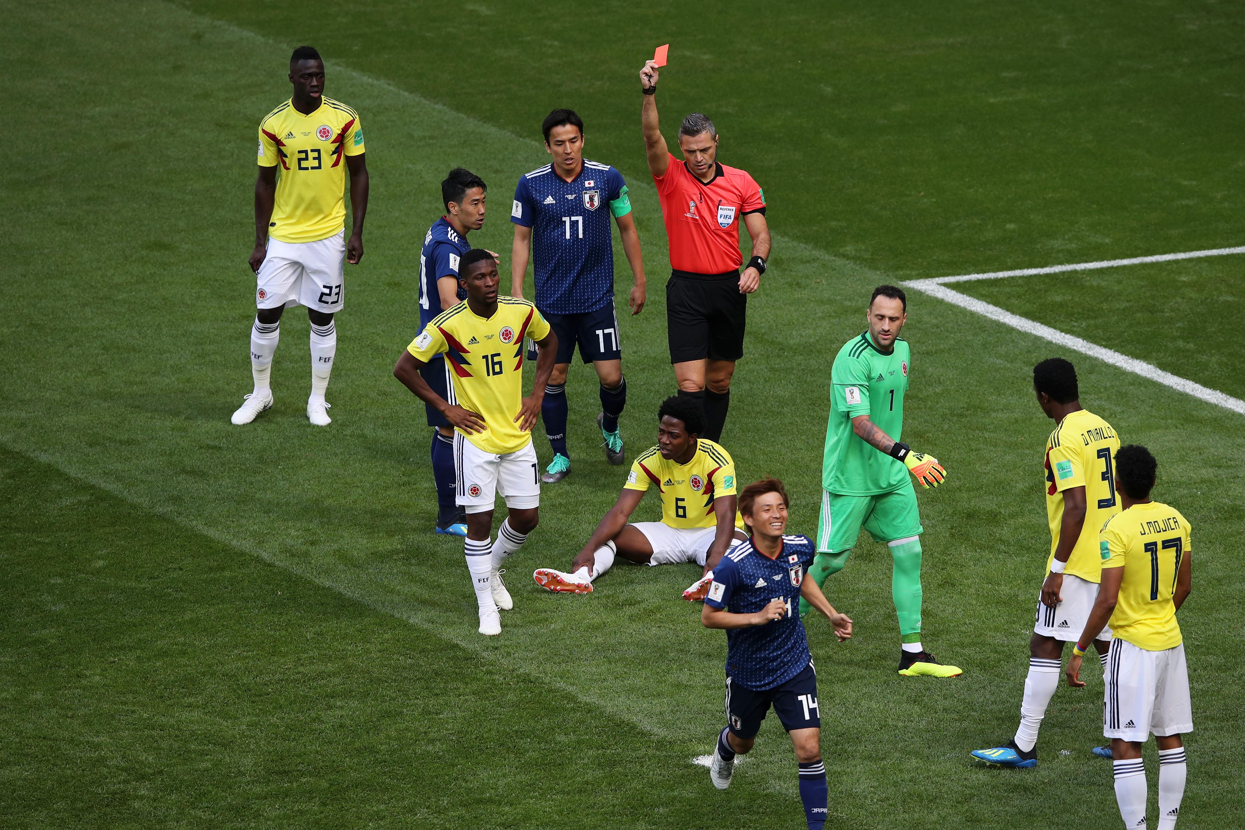 El colombiano Carlos Sánchez, primer expulsado del Mundial - Mundial Rusia 2018